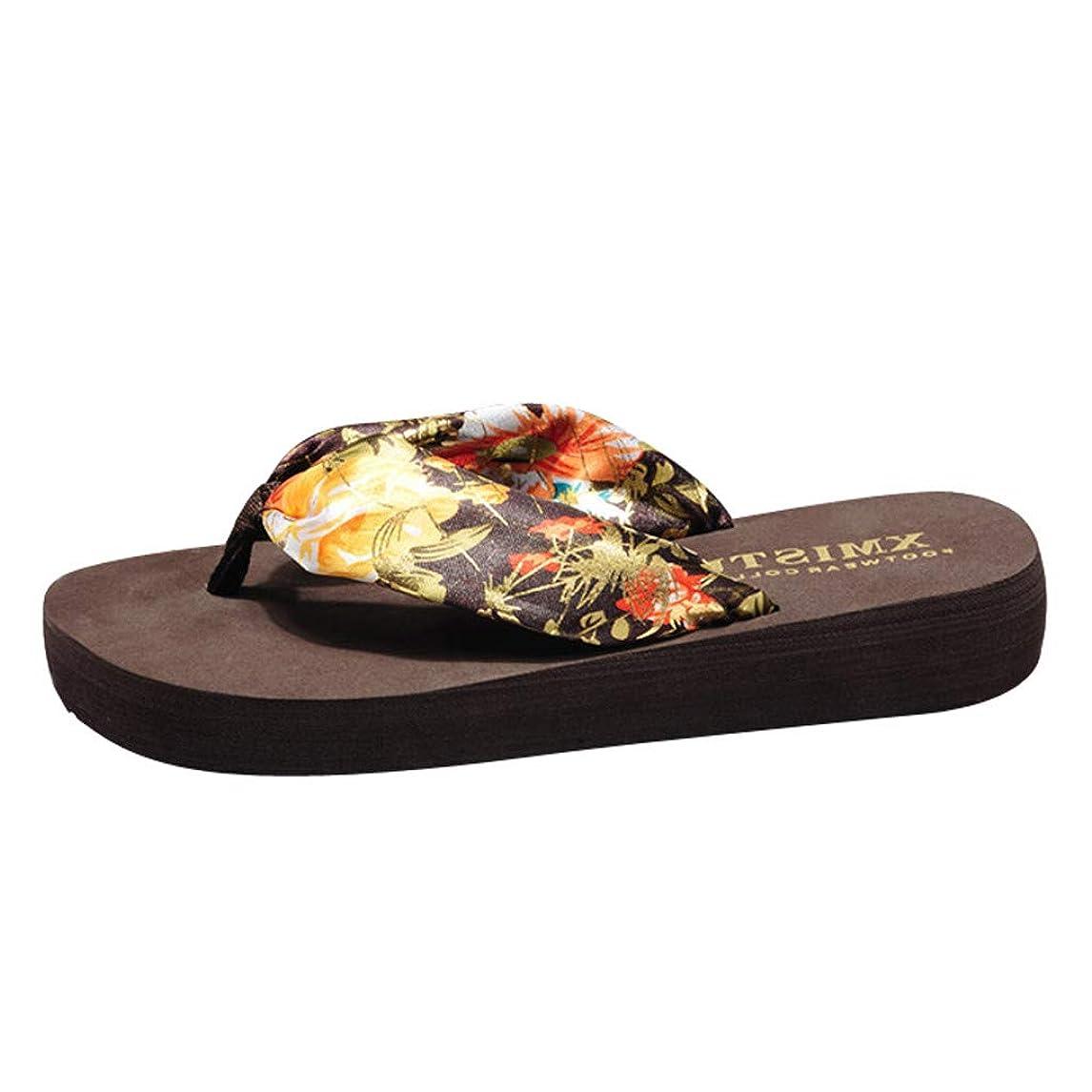 チキン噴水スローTop Homie レディース おしゃれ 厚底 ウェッジソール 履き心地よい スリッパ ルームシューズ お花 レオパード かわいい 美脚 室内 クッション 靴