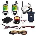 Easyguard EM209 2-Wege-Motorrad-Alarmanlage mit Fernbedienung Motorstart-Mikrowellensensor, farbiges LCD-Pager-Display, Stoßsensor, Näherungssensor inklusive Universalversion 12 V Gleichstrom