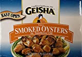 Geisha Fancy Smoked Oysters In Cottonseed Oil 3.75...