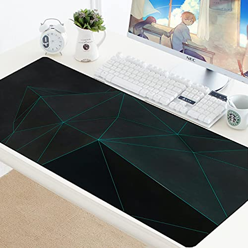 Glorious Mouse pad 3XL 35.4x11.8 inch -Large Extended Gaming Mouse Pad Mat Non-Slip Natural Rubber Base XXL Pink Desk Mat Computer Keyboard for Game Office - Fashion Art Geometry Graphics