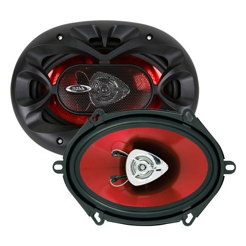 BOSS Audio Systems CH5720 Car Speakers - 225 Watts of Power Per Pair and 112.5 Watts Each, 5 x 7 Inch, Full Range, 2 Way, Sold in Pairs, Easy Mounting