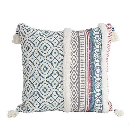 Yagosodee Protector de almohada, funda de almohada cálida para sofá de casa, sala de estar (azul)