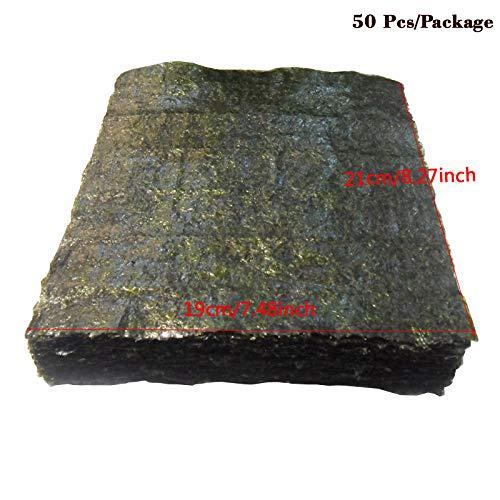 50-100 Uds conjunto de algas Nori de alta calidad, Snack de algas de Sushi, algas de comida verde Sushi Nori secas al por mayor