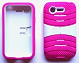 NP CITY Phone Cover Armor Case for LG Optimus Fuel L34C / Zone 2 VS415PP (Spink/White U/C)