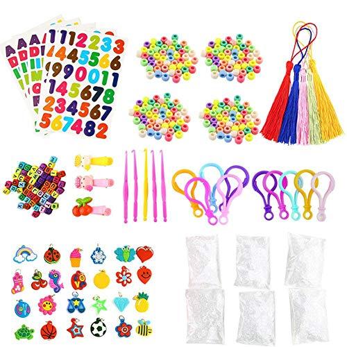 Tammy Yerke Rainbow Rubber Bands Twist Loom Refill Set Kids Bracelet Necklace Maker Kit Small Crochet Clip Pendant Bead Hook DIY Crafting Weaving Needlework