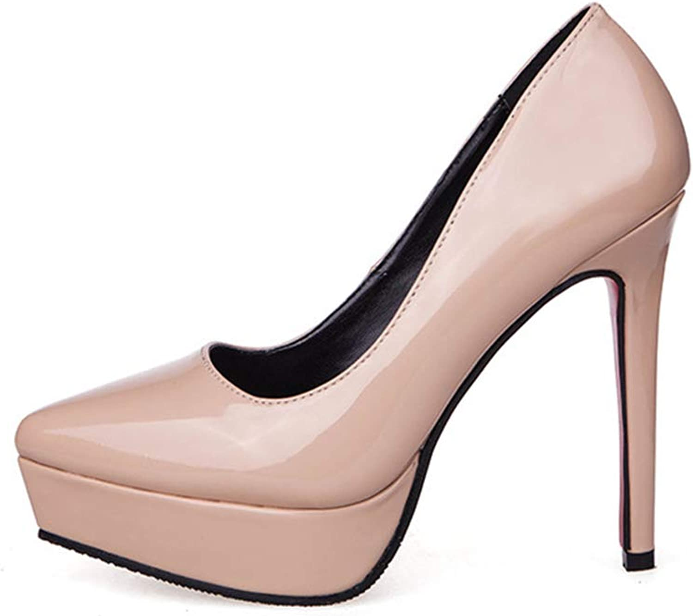 Phil Betty Women's Pumps,Pointed Toe Super High Heel Spring Red Pink Elegant Waterproof Platform shoes