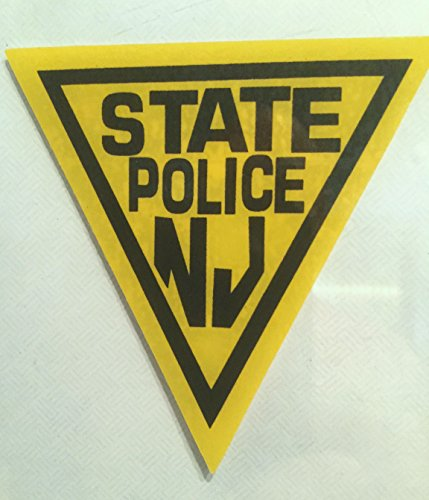 NJ New Jersey State Police (Window) Faces Outside NJSP Decals Stickers