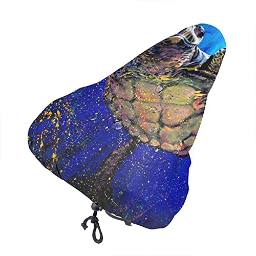 Bong6o Sea Turtle Animal - Funda para asiento de bicicleta unisex extra suave, duradera, impermeable, gel antipolvo