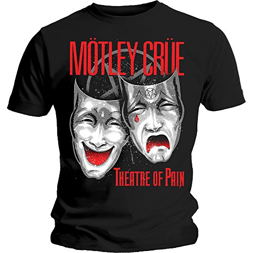 Motley Crue Theatre of Pain Rock Metal Official Tee T-Shirt Mens Unisex (Large)