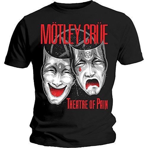 Motley Crue Theatre of Pain Rock Metal Oficial Camiseta para Hombre