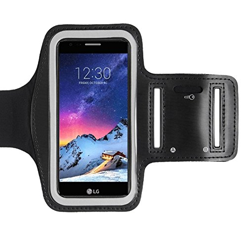 CoverKingz LG K10 2017 Brazalete Deportivo Fitness móvil Correr de pulsera unidad de funda Case de running Negro Gym Fitness-Brazalete