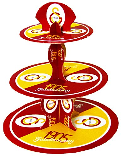 Galatasaray Istanbul - party verjaardag cupcake muffin standaard 3 verdiepingen kinderen dogum gunü ultraslan GS 1905
