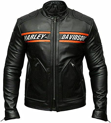 Bill - Chaqueta de piel para motociclista Goldberg - negro - Medium