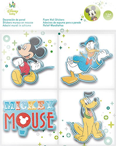 Stor Disney Lot de 12 Personnages décoratifs en Relief Motif Minnie 7,5 x 6 cm