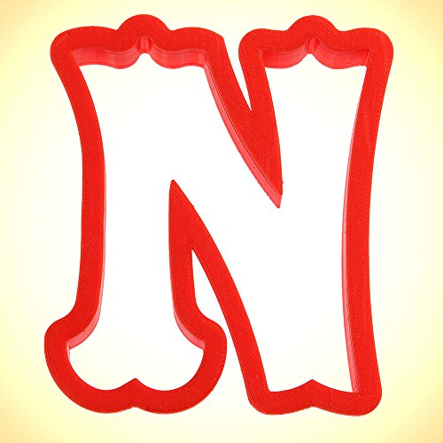 Curly Letter N Cookie Cutter 4 in