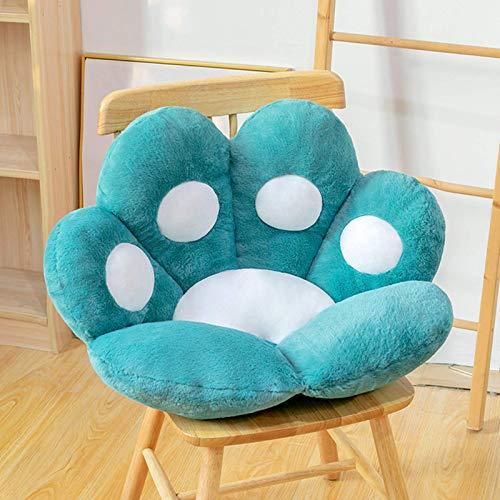 Cojín de asiento lindo Sofá perezoso con forma de pata de gato, Cojín de silla de oficina con pata de oso Cojín de felpa para sofá Decoración del hogar Alfombrilla de piso especialmente diseñada