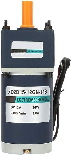 Réducteur de vitesse réglable 12V   15W, moteur adapté à réduction de moteur de vitesse de CC d'aihommet perhommeent électrique 1800   2100RPM( 15)