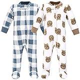 Hudson Baby Unisex Baby Fleece Sleep and Play, Little Bear, 0-3 Months