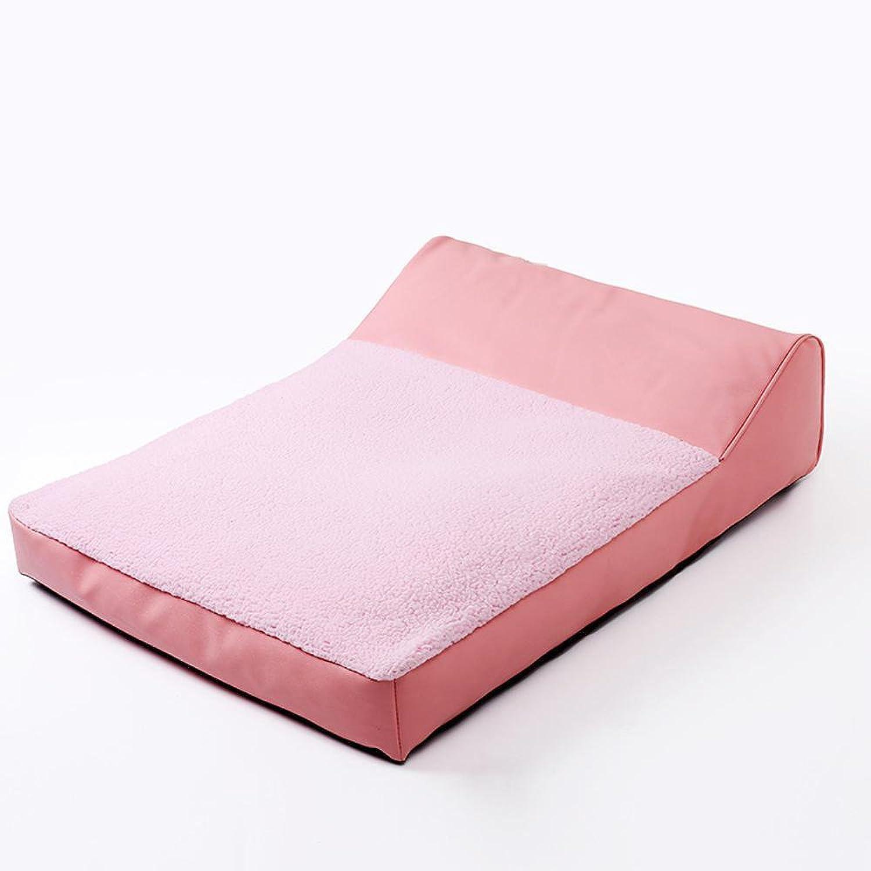 Dixinla Pet Bed Kennel Cat Litter Pet Supplies Leather Velvet Material Autumn and Winter Warm pet mat 80x60x10cm