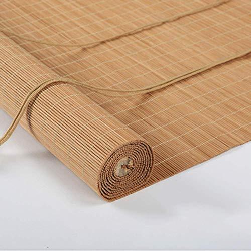 Persianas de bambú,persianas enrollables Persianas enrollables de cortina de bambú Protector solar Pantalla Ventilación Balcón casero Tipo de elevación de la pantalla,Tamaño Elegir (Color:Multicolor o