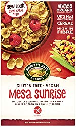 GLUTEN FREE CEREAL: Nature's Path Mesa Sunrise cereal is gluten free, vegan, dairy free and wheat free. Full of flavour and irresistibly crunchy, this cereal doesn't compromise on taste ORGANIC: Nature's Path work tirelessly to keep organic advocacy ...