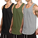 COOFANDY Men's 3 Pack Quick Dry Workout Tank Top Gym Muscle Tee Fitness Bodybuilding Sleeveless T...