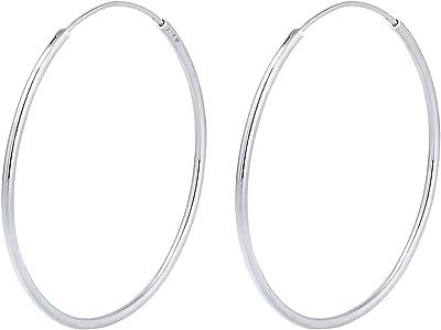Elli 0310662011 - Orecchini a cerchio da donna, argento sterling 925