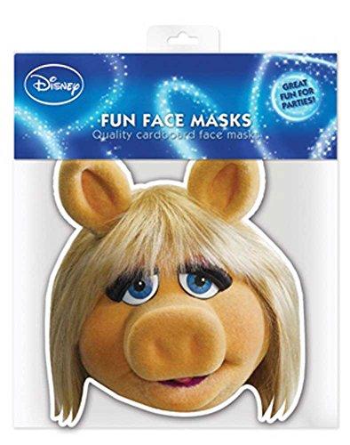 Muppets Miss Piggy – Masque en carton brillant haute qualité en carton avec trous pour les yeux et élastique 30 x 20 CM
