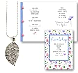 Best Smiling Wisdom Friend Gifts Silvers - Smiling Wisdom - Platinum Leaf Sweater Necklace Gift Review