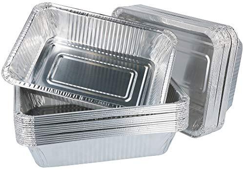 com-four® 30 Grillschalen aus Aluminium, Einweg-Schalen zum Grillen, Kochen oder als Tropfschale für Grills (30 Stück)
