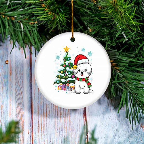 Bichon Frise Scarf Merry Christmas Ornament