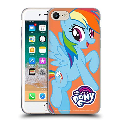 Head Case Designs Officially Licensed My Little Pony Rainbow Dash Solo Character Art Soft Gel Case Compatible with Apple iPhone 7 / iPhone 8 / iPhone SE 2020