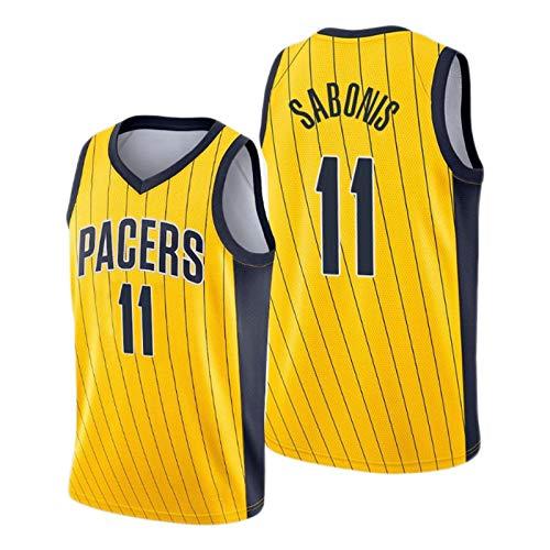 Domantas Sabonis - Camiseta de baloncesto (tallas S-XXL), color amarillo