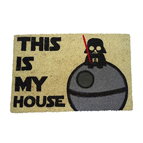 koko doormats Felpudo de Star Wars para Entrada de Casa This is my House Original y Divertido/Fibra Natural de Coco con Base de PVC, 40x60 cm
