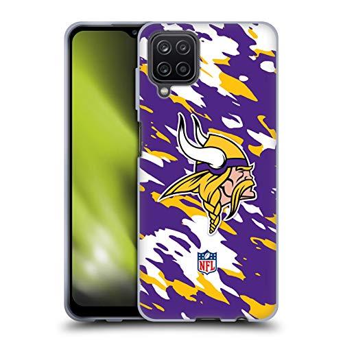 Head Case Designs Licenciado Oficialmente NFL Camou Logotipo de Minnesota Vikings Carcasa de Gel de Silicona Compatible con Samsung Galaxy A12 (2020)