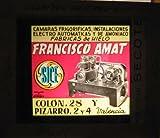 Antigua PUBLICIDAD EN CRISTAL PARA CINES : Fábricas de Hielo, Cámaras frigoríficas. Francisco Amat. Valencia
