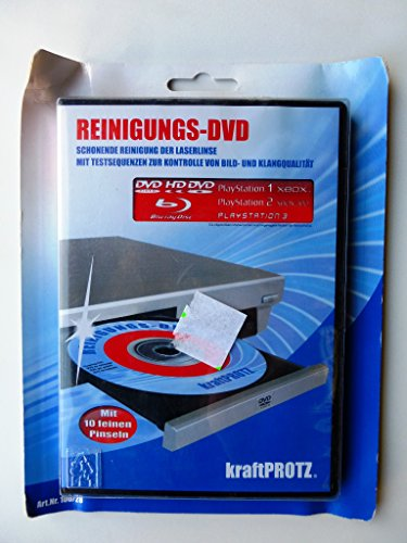 KraftProtz Reinigungs-DVD mit 10 feinen Pinseln