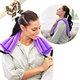 My Heating Pad Microwavable Multi Purpose Wrap for Cramps Relief | Heating Pad for Neck and Shoulders | Insomnia and Headache Relief | Reusable Hot Pack for Sore Muscles - Purple