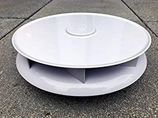 niedriges Profil drehbar Dach Entlüftung für Vans Busse   weiß   groß Dachlüfter rotierende Ventilator
