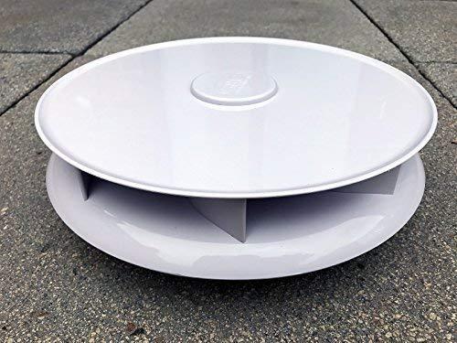 niedriges Profil drehbar Dach-Entlüftung für Vans Busse - weiß - groß Dachlüfter rotierende Ventilator