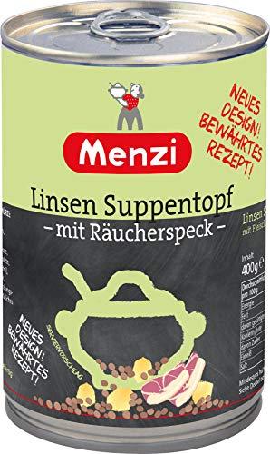 Linsen Suppentopf mit Räucherspeck von MENZI, 400g