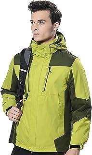 Alivebody Men's Mountain Snow Waterproof Ski Jacket Windproof Fleece Parka Rain 3-in-1 Jackt Winter Coat