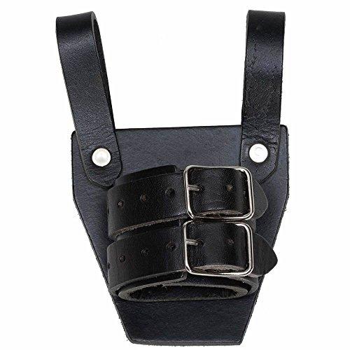Porta Spada con due passanti in pelle nera per LARPer cavaliere per un pugnale / spada