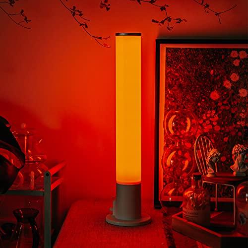 YHYYU Lámpara de Mesita de Noche, Nocturna Infantil Lamparas Colores Regulable LED, USB Bateria Recargable sin Cable, Control Remoto y Tactil, para Dormitorio, Niños, Habitación