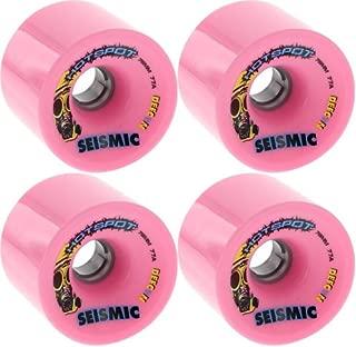Seismic Hot Spot 76mm 77a Bubblegum Defcon Longboard Wheels (Set of 4)