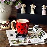Caroon Ladybug Hand-Paited Creative Ceramic Cups And Mugs With Handgrip Porcelain Drinkware Milk Tea Coffee Cup Mug Under-Glazed