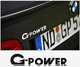 snstyling.com Aufkleber passend für BMW G Power Aufkleber Heckaufkleber 140mm 2Stk. Satz (Weiss)