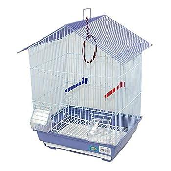 DZL Cage à oiseaux avec mangeoires perchoirs balançoires 34,5x 28x 49,5cm