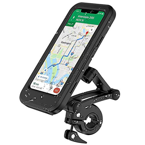Bicycle Mobile Phone Holder, Waterproof Phone Mount with Touch Screen,...