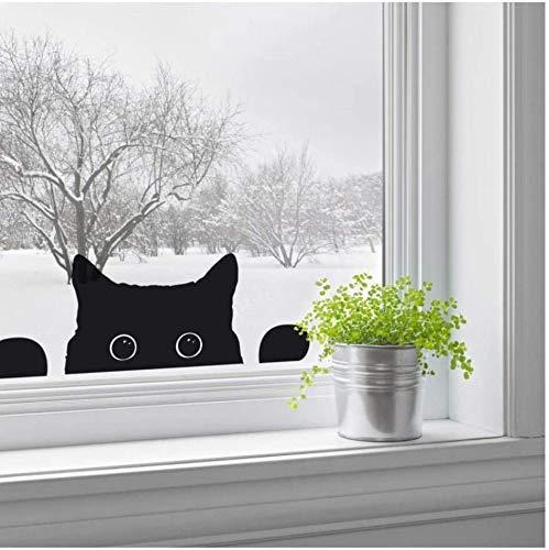 Nette Kätzchen Reise Katze Wandaufkleber Für Kinderzimmer Kühlschrank Cartoon Tier Katze Wandtattoo Kunst Wandbild Fenster Aufkleber Home Decor 43X16.7